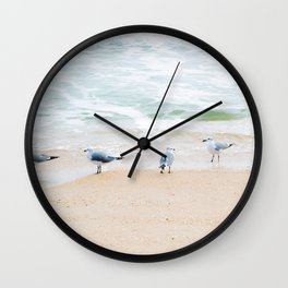 Beach Birds Wall Clock