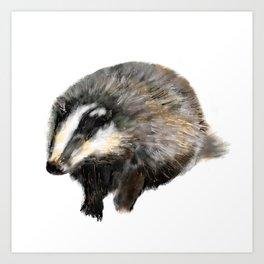 Billy Badger Art Print
