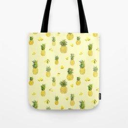 Pineapple Watercolors Tote Bag