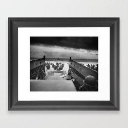 Omaha Beach Landing -- D-Day Normandy Invasion Framed Art Print