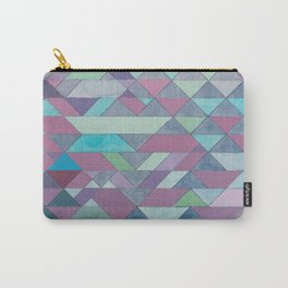 Triangle Pattern no.3 Violet Carry-All Pouch