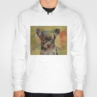 chihuahua Hoodies featuring Chihuahua by Michael Creese