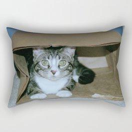 Cat in a bag Rectangular Pillow