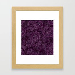 Meredith Paisley - Purple Framed Art Print