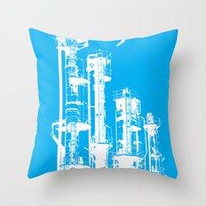 Factory Jump (white) Throw Pillow