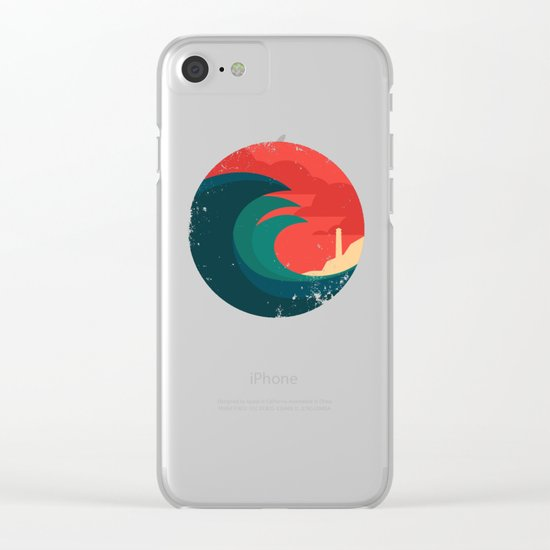 The wild ocean Clear iPhone Case