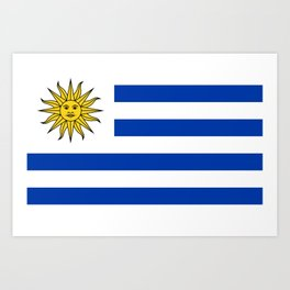 flag of Uruguay-Uruguyan,montevideo,spanish,america,latine,Salto,south america,paysandu,costa,sun,be Art Print