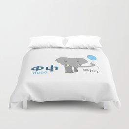 Elephant - Pigh Duvet Cover