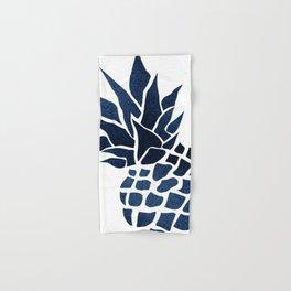 Pineapple, Big Blue, Denim Navy Hand & Bath Towel