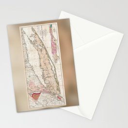 1842 Map of Long Island Stationery Cards
