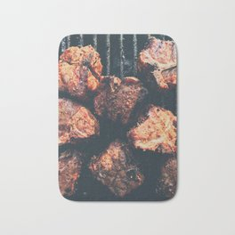 Grilled meat Bath Mat