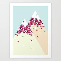 twin peaks Art Prints featuring Twin Peaks by Attitude Creative