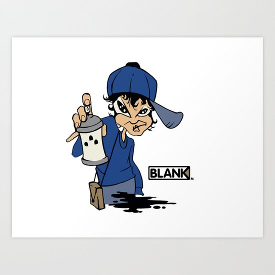 BLANKM GEAR - GIRLSPRAY T SHIRT Art Print