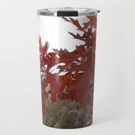 Red Leaves with Bokah Travel Mug