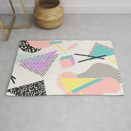 80s / 90s RETRO ABSTRACT PASTEL SHAPE PATTERN Rug