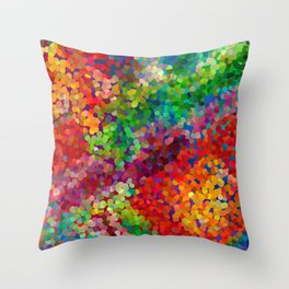 Color Theory Clash Throw Pillow