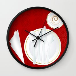 Table setting for one Wall Clock