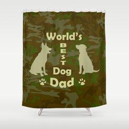 World's Best Dog Dad Shower Curtain