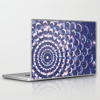 moon phases Laptop & iPad Skins featuring Moon Phases by Cina Catteau