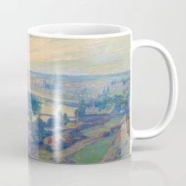 Václav Radimský (1867-1946) View of Rouen Impressionist Landscape Painting Bright Colors Oil Coffee Mug