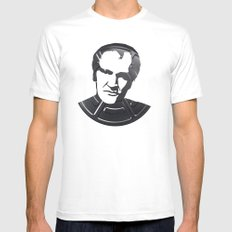 Quentin Tarantino White SMALL Mens Fitted Tee