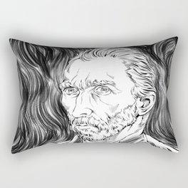 Van Gogh in black Rectangular Pillow