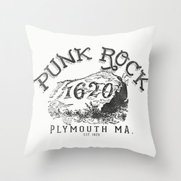 Punk Rock Plymouth Ma. Throw Pillow