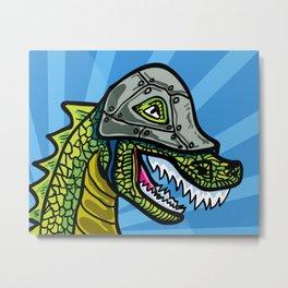 Warrior Dino (1 of 2 in Warrior Series) Metal Print