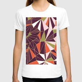 New Art Deco Geometric Pattern - Burgundi and Pink #deco #buyart T-shirt