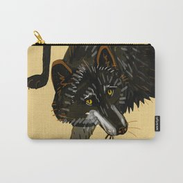 Black wolf totem Carry-All Pouch