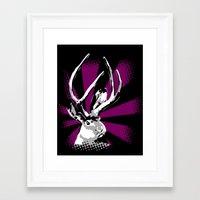 jackalope Framed Art Prints featuring Jackalope by Fingers Duke