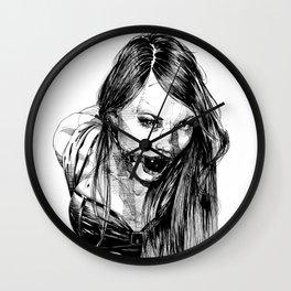 Ball Gagged Lady Portrait ©Yury Fadeev Wall Clock
