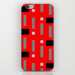 Pattern of Squares in Red iPhone Skin