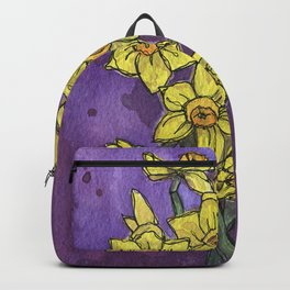 Jonquils - Watercolor and Ink artwork Backpack