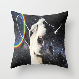Space Goat Throw Pillow