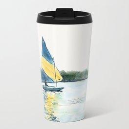 Sailing a Sunfish-digital sketch Travel Mug