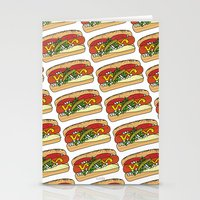 hot dog Stationery Cards featuring HOT DOG by RUMOKO x Vintage Cheddar