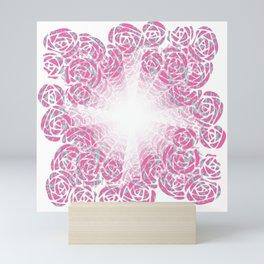 A Rush of Wild Roses Illusion Art Design Mini Art Print