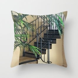 Secret Stair Steps to a Romantic Hideaway Throw Pillow