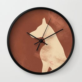 Doberman Dog Wall Clock