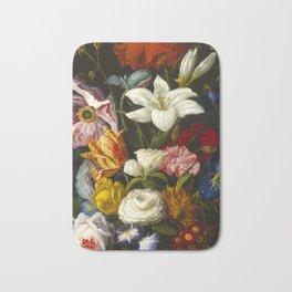 Victorian Bouquet by Severin Roesen Bath Mat