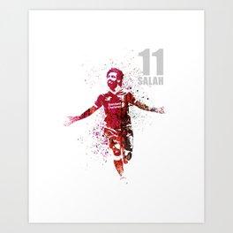 SALAH - 11 grey Art Print