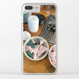 Coffee Cafe Counter Clear iPhone Case