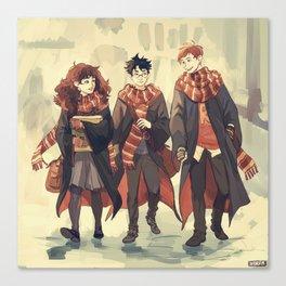 the golden trio Canvas Print