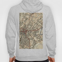 Vintage Map of Charlottesville Virginia (1949) Hoody