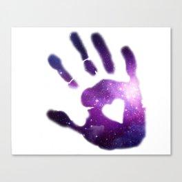 Galaxy Hand Canvas Print