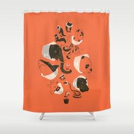 Cones of Shame (orange) Shower Curtain