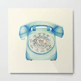 Rotary Telephone - Ballpoint Metal Print