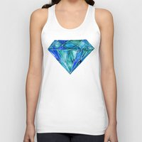 geode Tank Tops featuring Aquamarine by Cat Coquillette