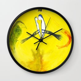 Trying to stop time - Painting by Tony King Wall Clock
